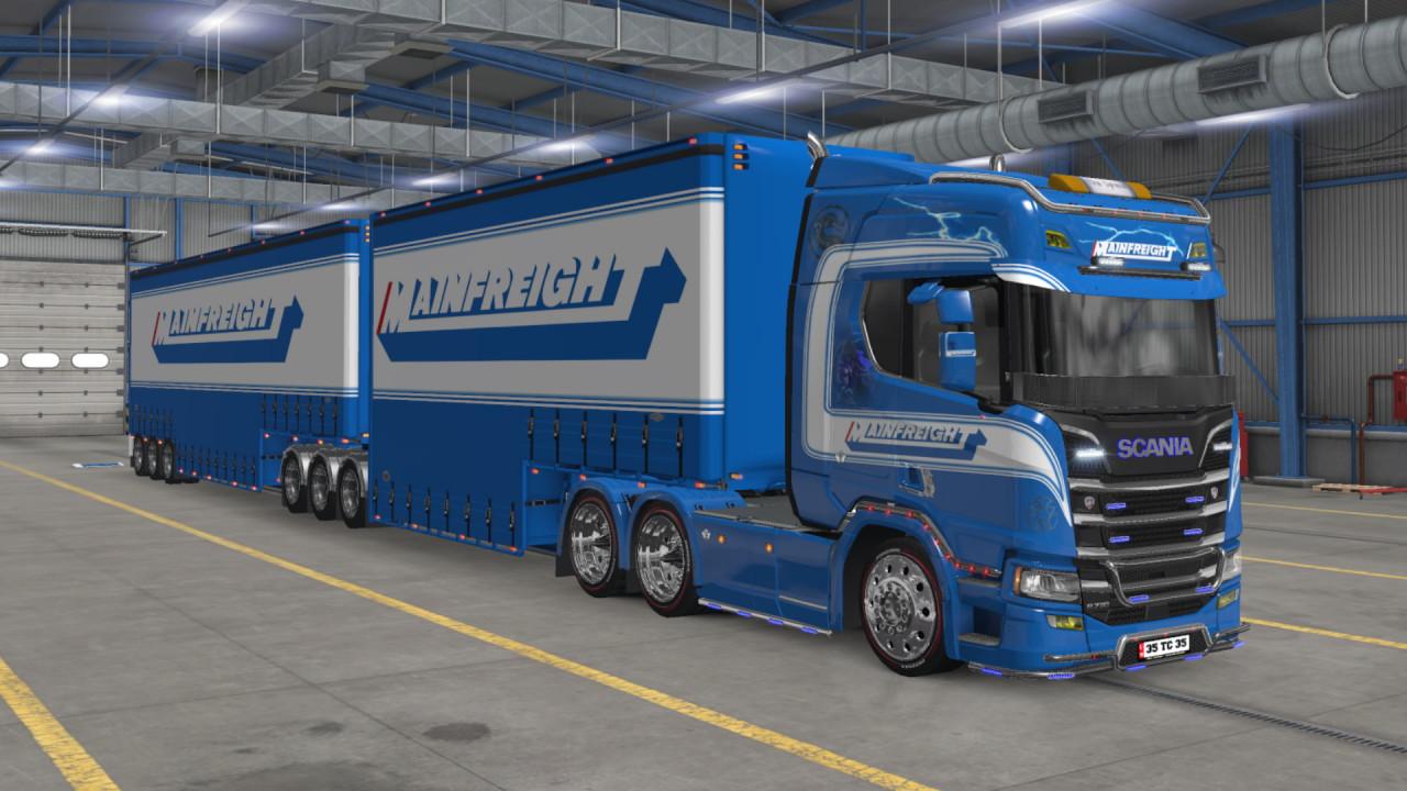 Mortal Kombat - Mainfreight skin for Scania R 2016