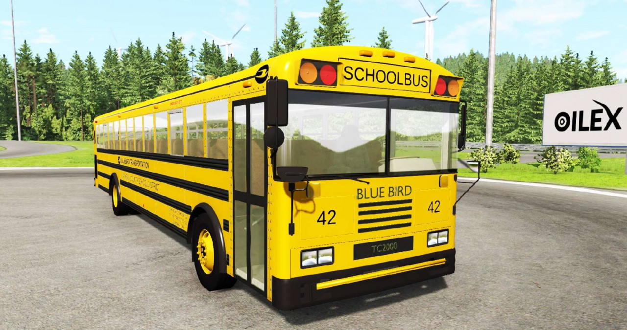 Blue Bird American School Bus TC-2000 Type-D Rear Engine