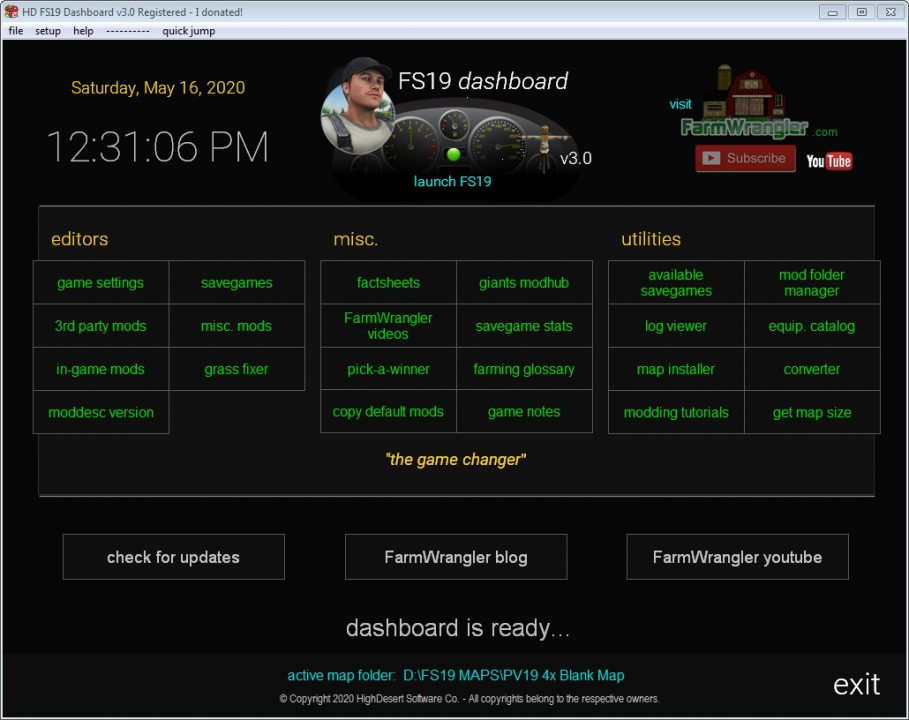 FS19 Dashboard