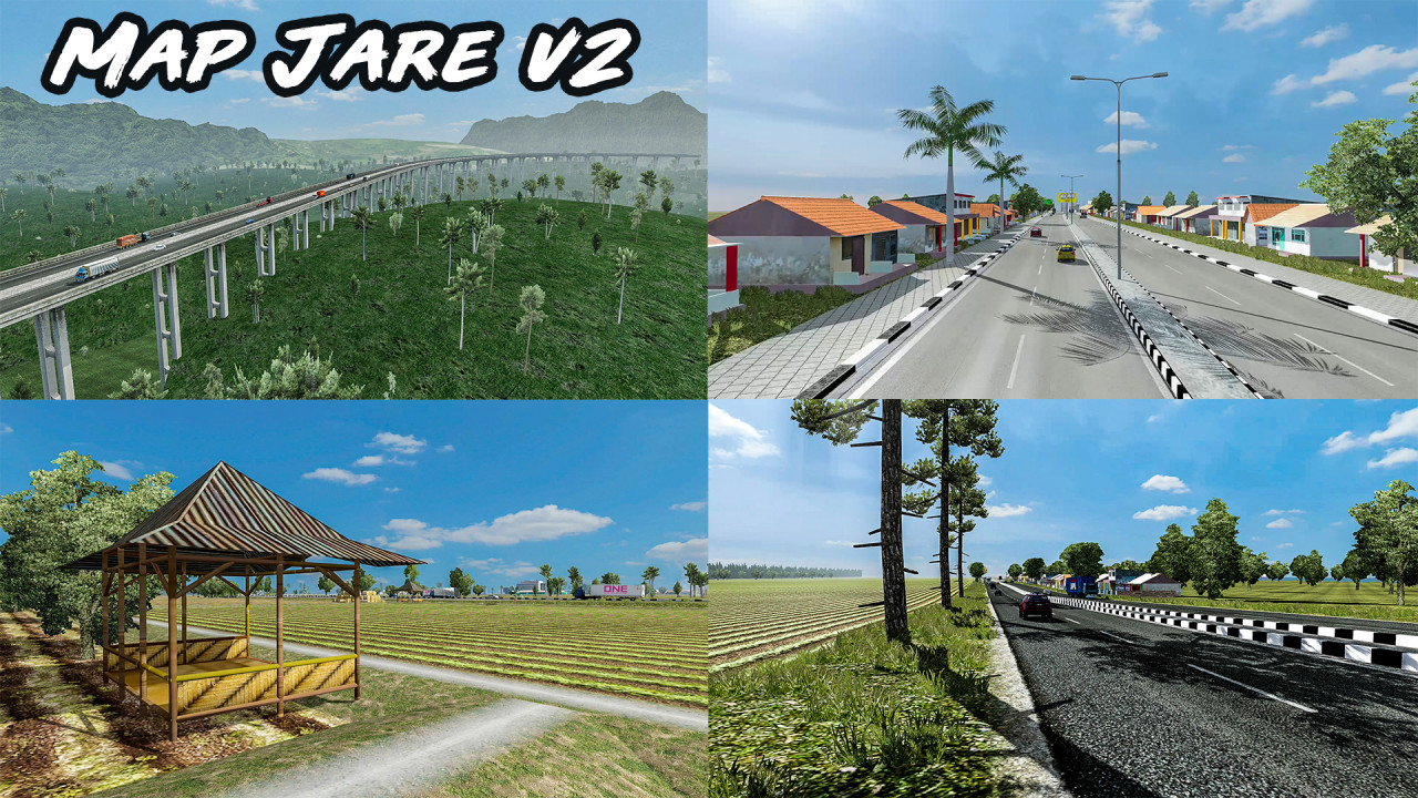 Map Jare V2 (JAVA ROAD EDITION MAP) - ETS2 1.36 to 1.38