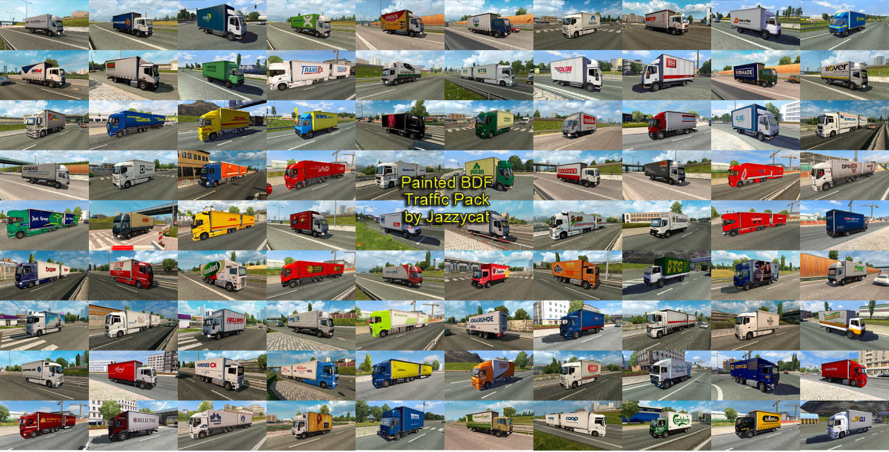 Painted BDF Traffic Pack by Jazzycat