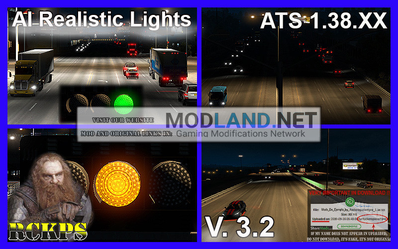 AI Realistic lights V. 3.2 For ATS 1.38.XX