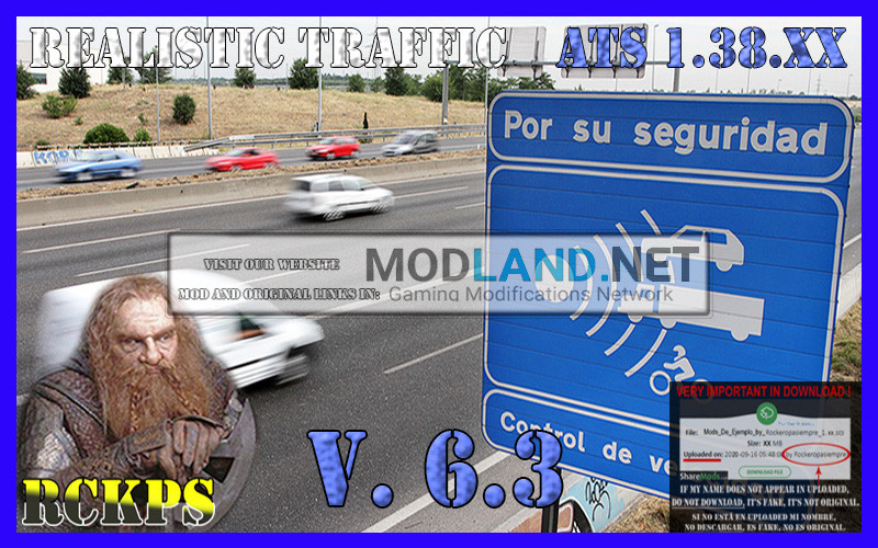 Realistic Traffic 6.3 For American Truck Simulator 1.38.XX