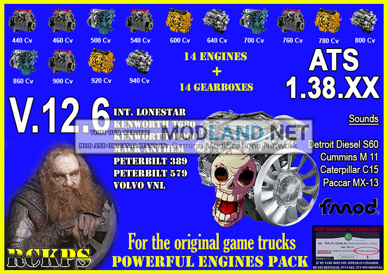 Pack Powerful engines + gearboxes V.12.6 for ATS 1.38.XX
