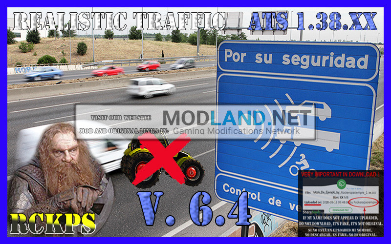Realistic Traffic 6.4 For American Truck Simulator 1.38.XX