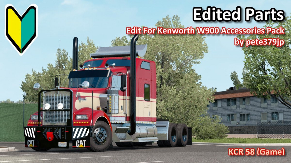 Edit For Kenworth W900 Accessories Pack