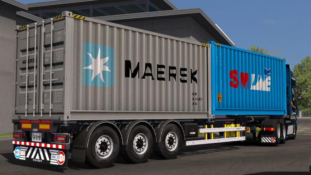 Korean container trailer