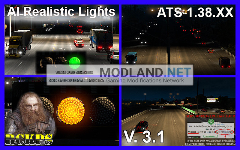 AI Realistic lights V. 3.1 For ATS 1.38.XX