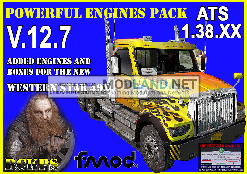 Pack Powerful engines + gearboxes V.12.7 for ATS 1.38.XX