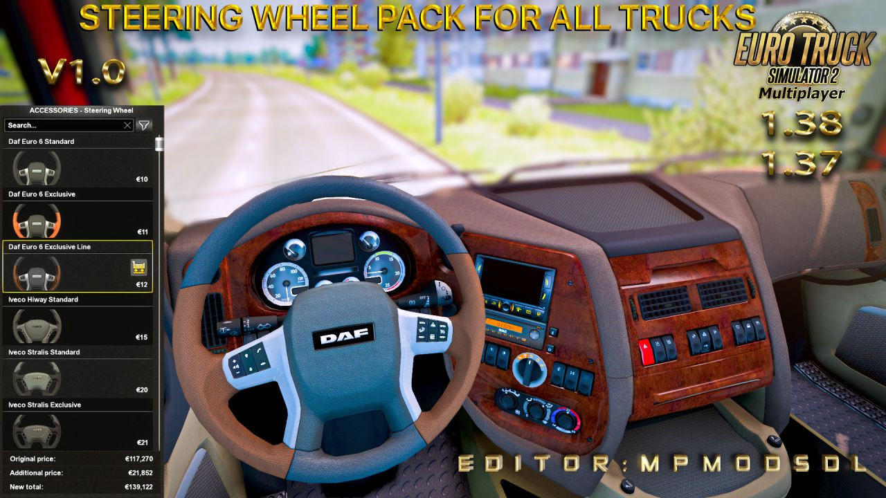 Steering Wheel Pack For All Trucks v1.0 For ETS2 Multiplayer 1.37 And 1.38