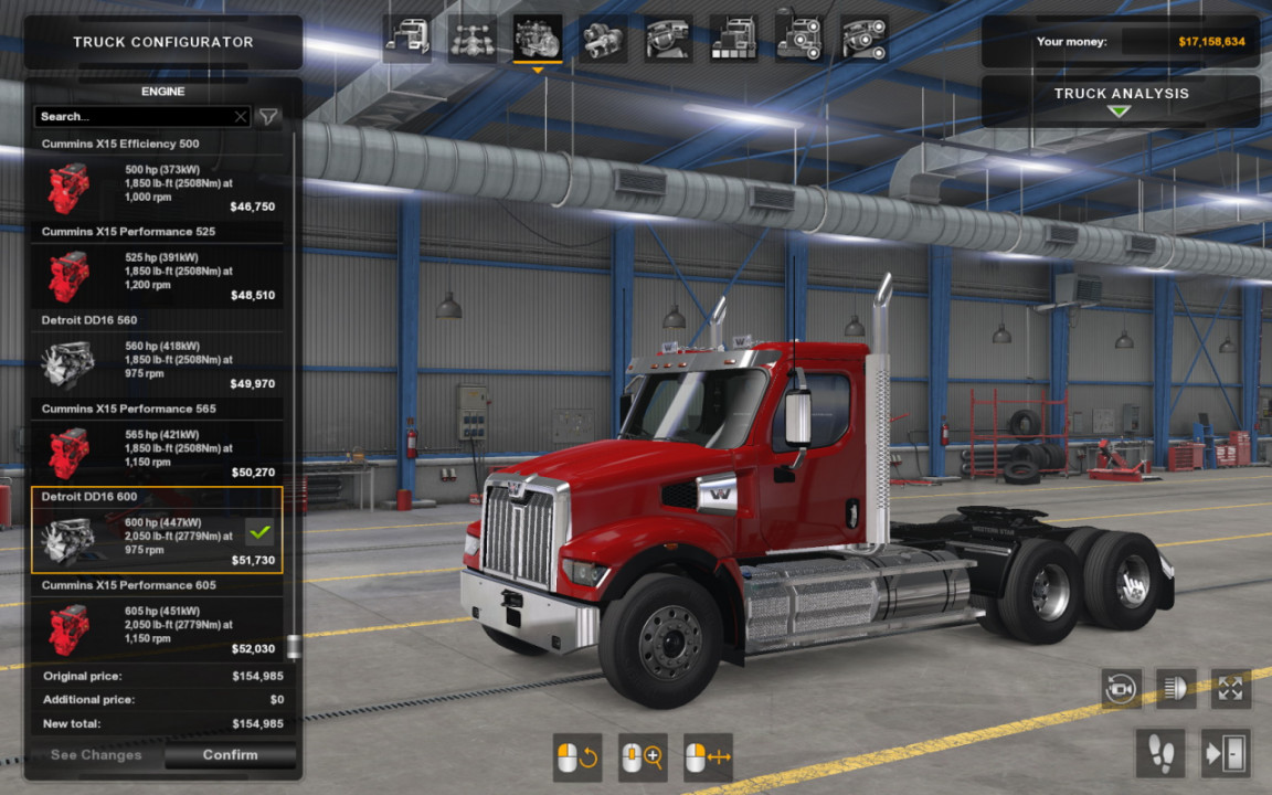 SCS Western Star 49x original engines sound update