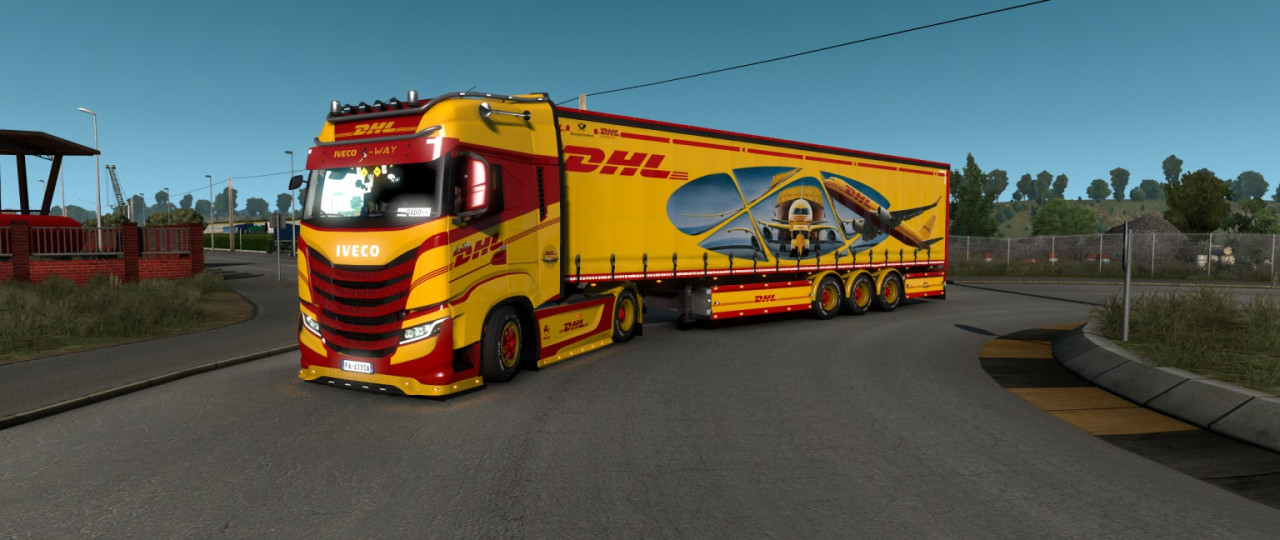 Skin DHL TNT Trucks & Trailers
