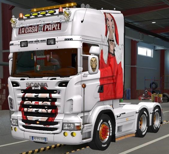 Skin Scania RJL Lacasa de papel biały