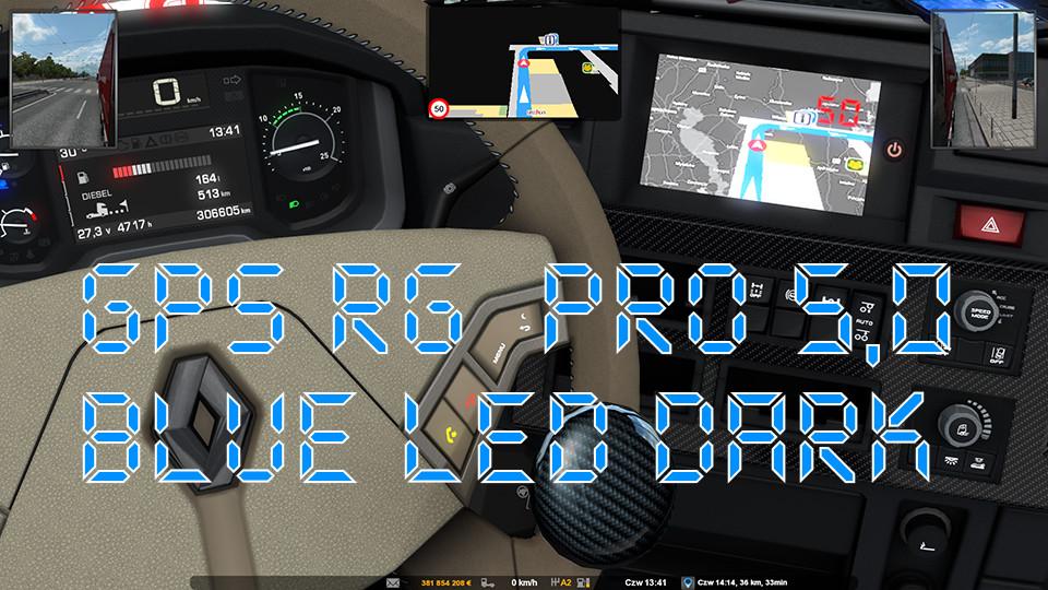 GPS RG PRO 5,0 BLUE LED DARK