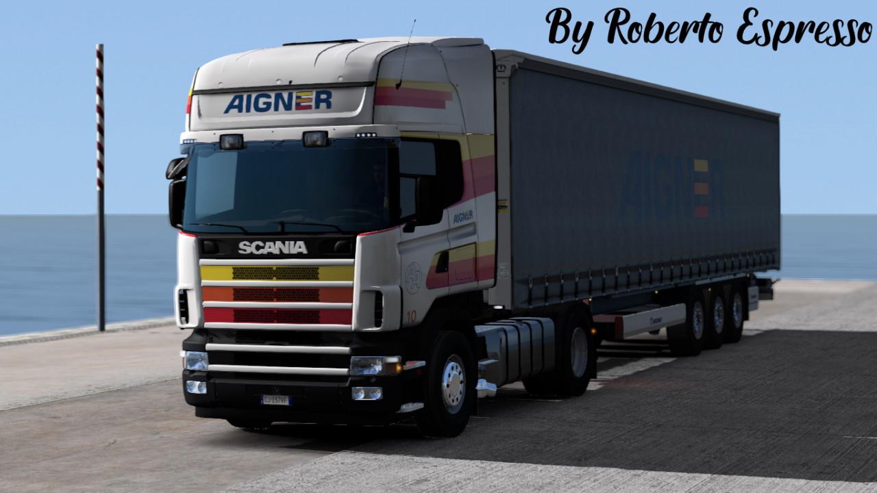 Aigner Transporte skin pack (scania 4 series + trailer scs + krone trailer (DLC)