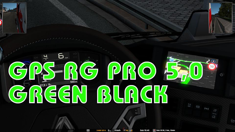 GPS RG  PRO 5,0 GREEN BLACK