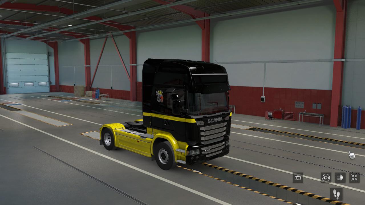 Scania Topline Schwarz Gelb