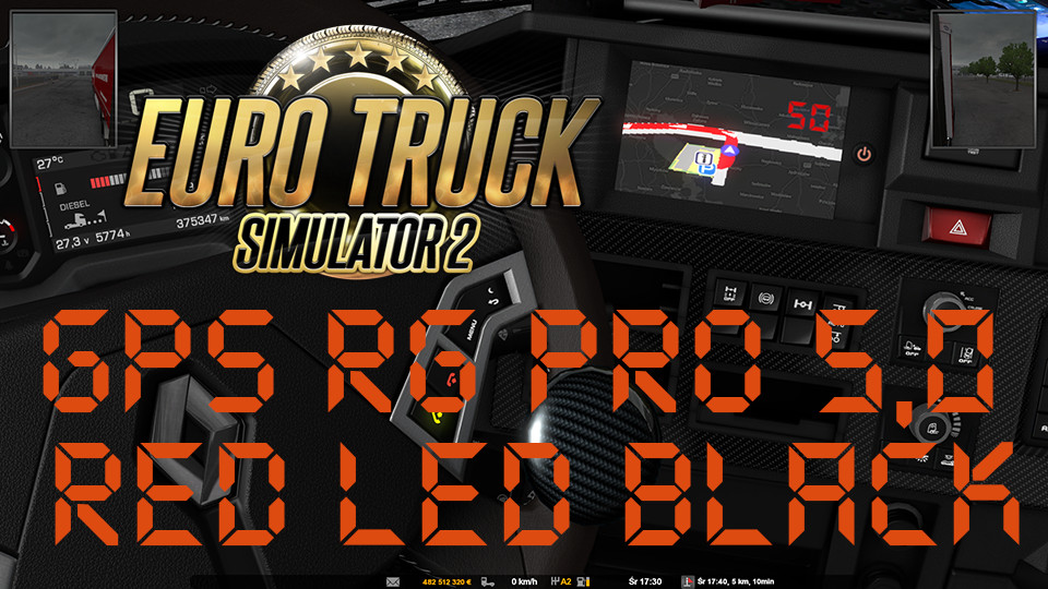 GPS RG PRO 5,0 RED LED BLACK