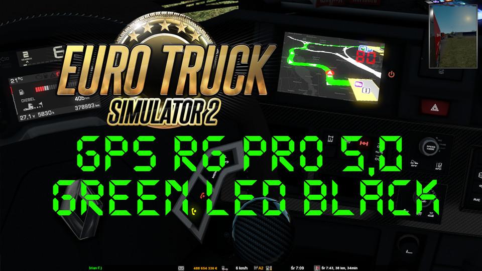 GPS RG  PRO 5,0 GREEN LED BLACK