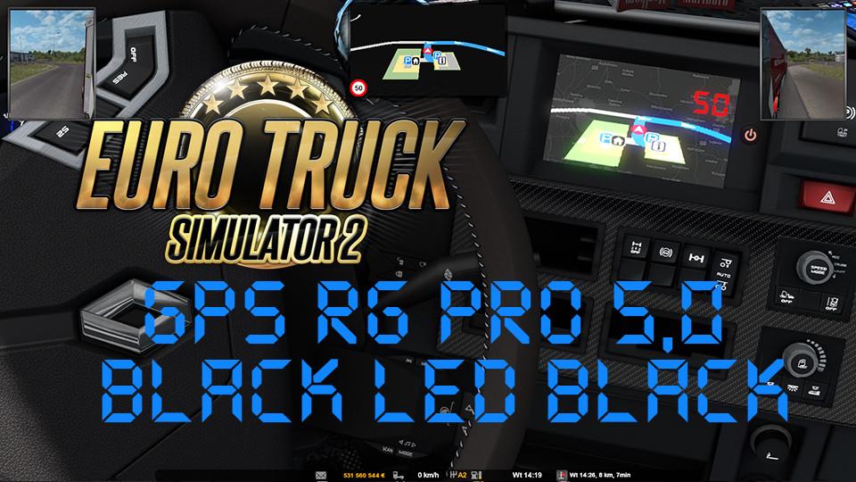 GPS RG PRO 5,0 BLUE LED BLACK