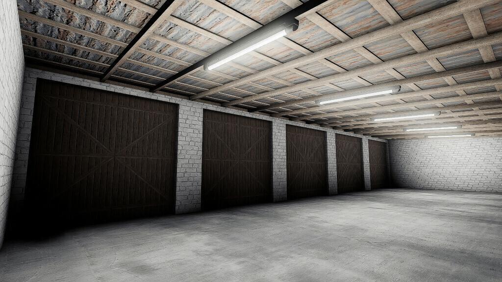 Garage for machines