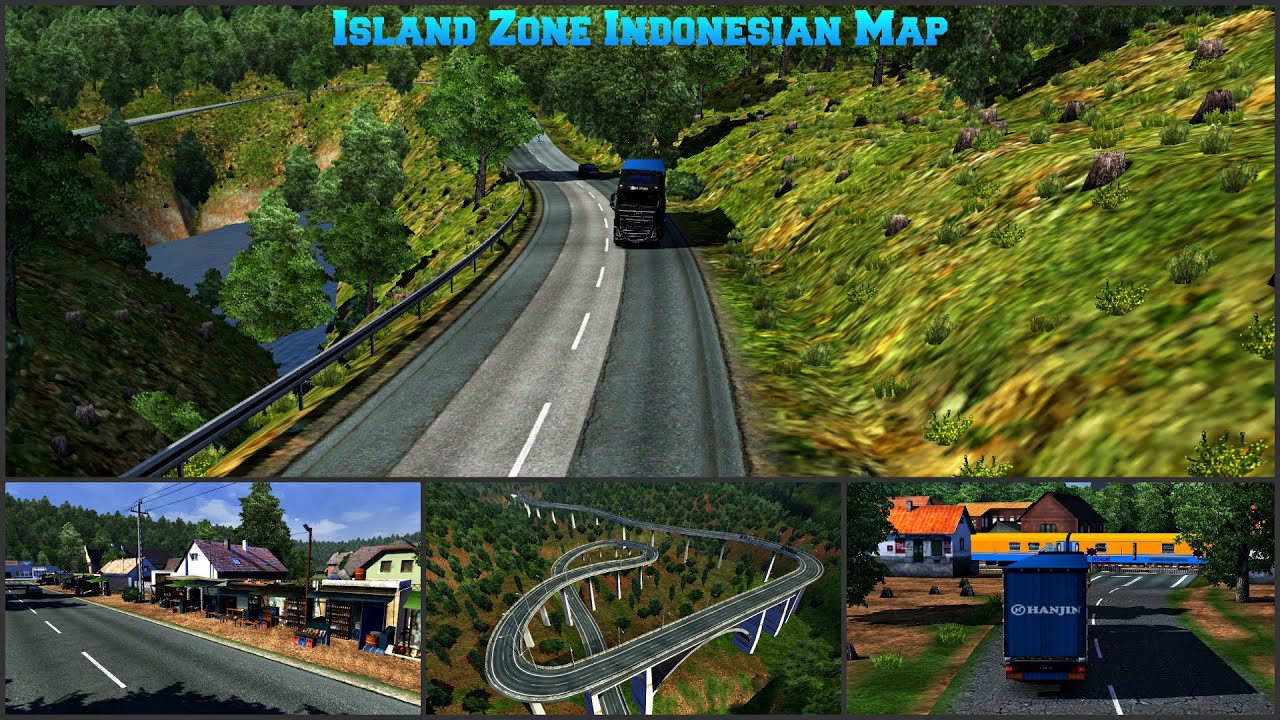 Island Zone Indonesian Map For ETS2 1.30 to 1.38
