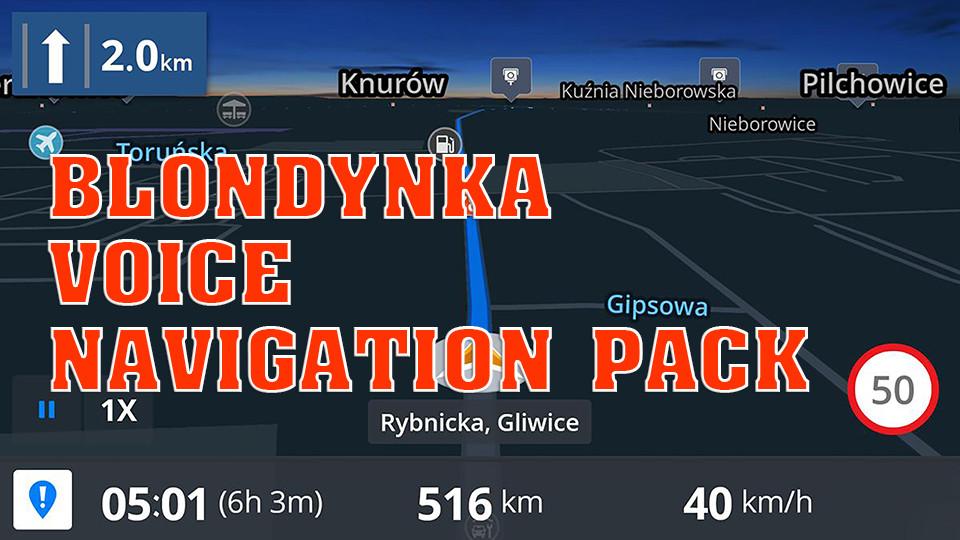 Blondynka Voice  Navigation Pack