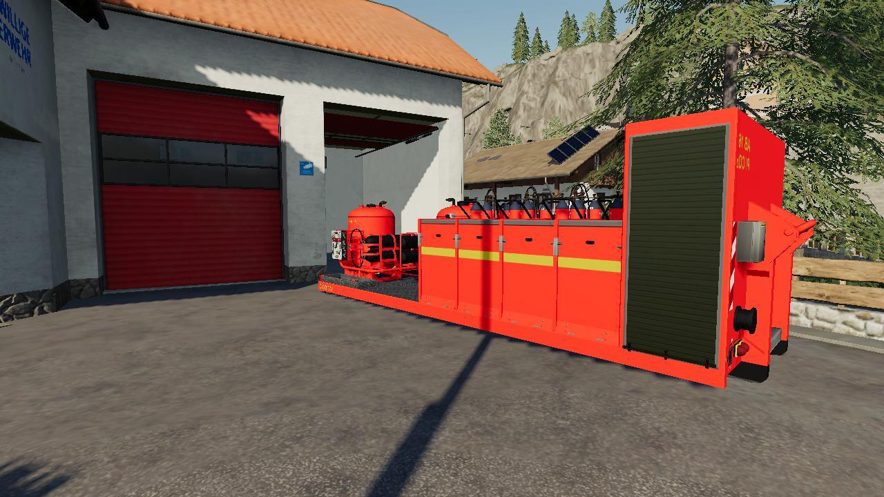 Platforma z srodkami gasniczymi
