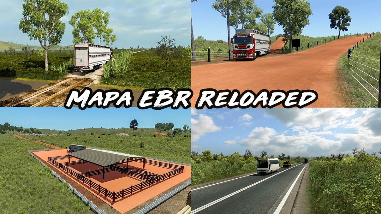 Mapa EBR 1.73 Reloaded - ETS2 1.38