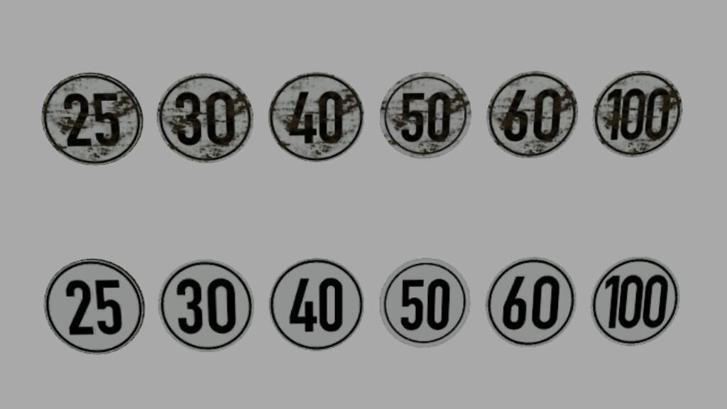 Sheet Metal Sign With Speed Sticker (Prefab)