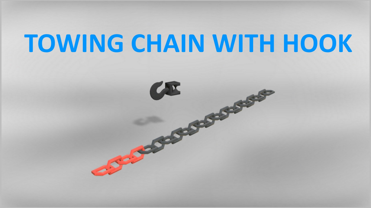 Towing Chain With Hook