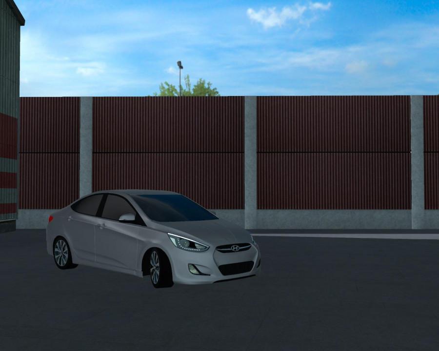 Hyundai Accent Blue 2010