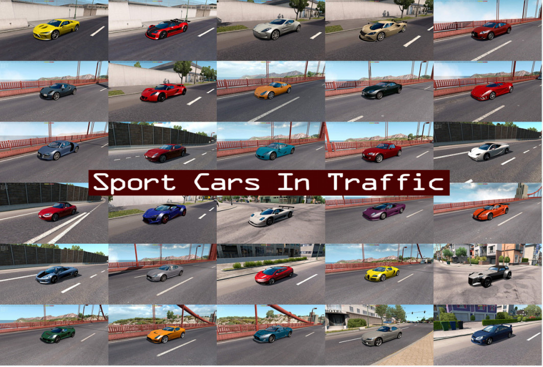 Sport Cars Traffic Pack (ATS) by TrafficManiac