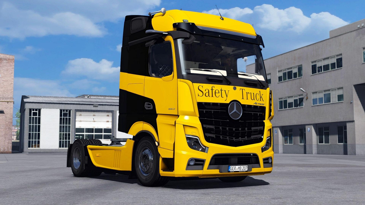 Mercedes Benz New Actros 2019 by Actros 5 Crew v1.5 Fixed 1.39