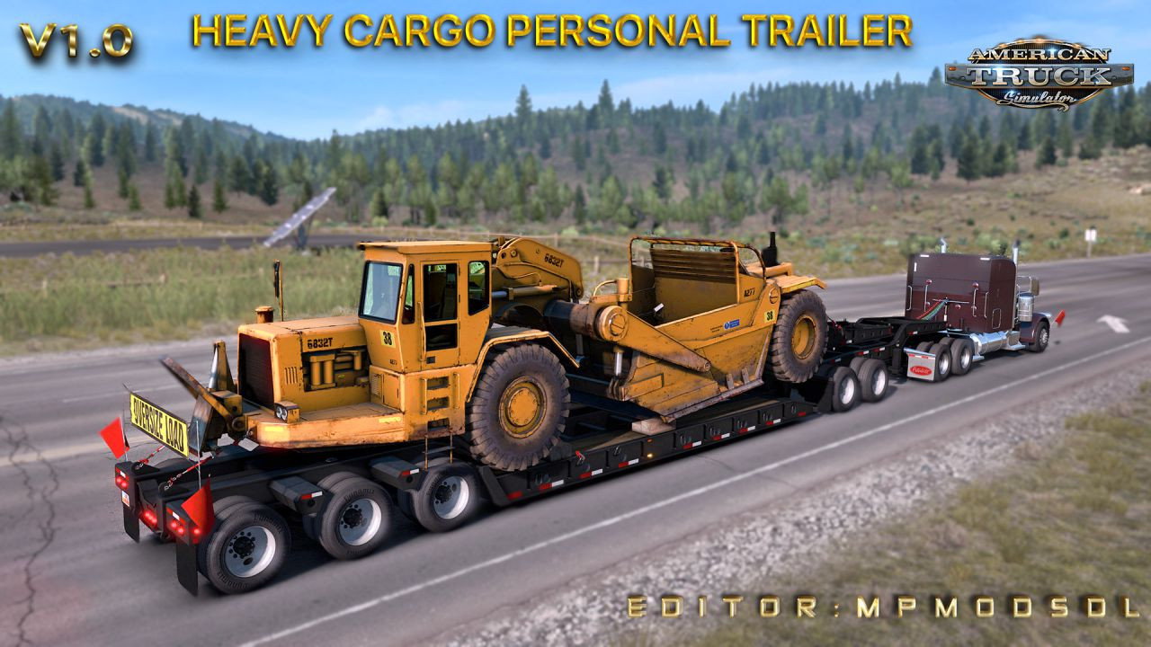 Heavy Cargo Personal Trailer Mod For ATS Multiplayer