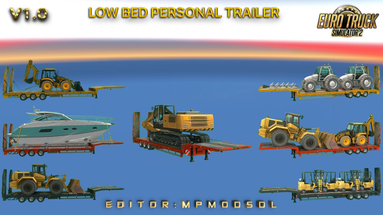 Low Bed Personal Trailer Mod For ETS2 Multiplayer