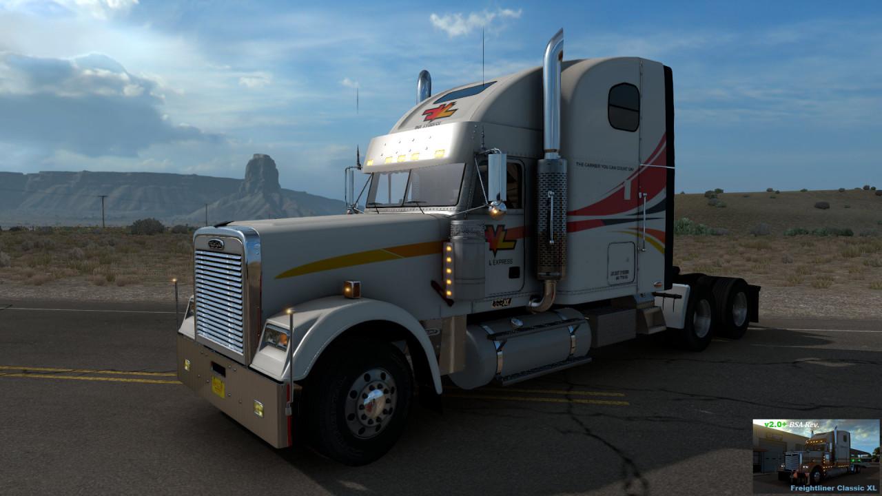 Freightliner Classic XL V2.0+ (BSA Revision) for ATS v1.39