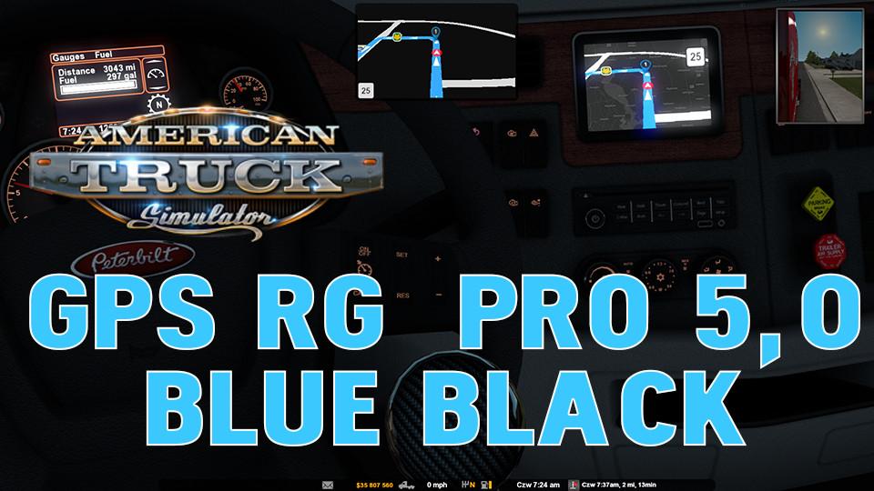 GPS RG PRO 5,0 Blue BLACK