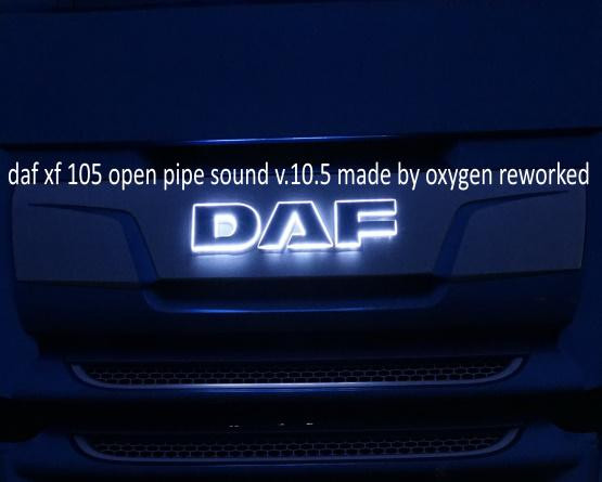 Daf Xf 105 Open Pipe Sound reworked