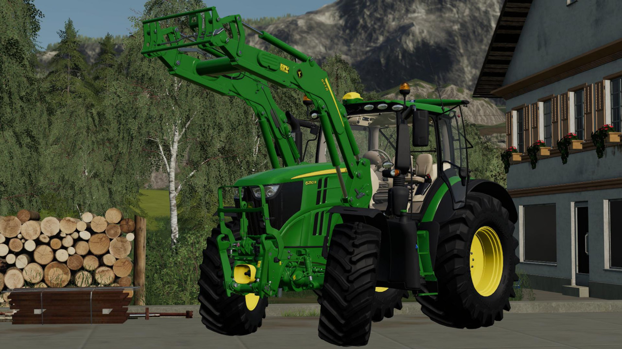 John Deere 6R Series with 643R front loader