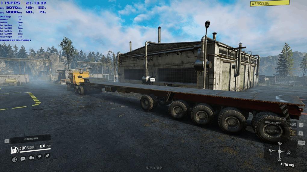 Semitrailer gooseneck 8 Steering axle Mod