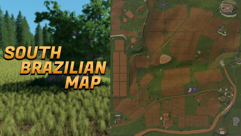 South Brazilian Map