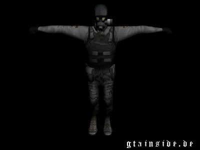 SWAT gas mask