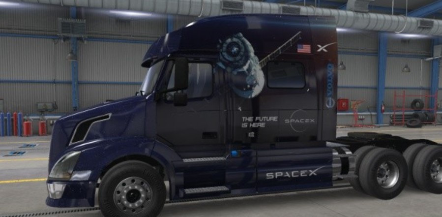 ATS SpaceX Truck and Trailer Skin Combo