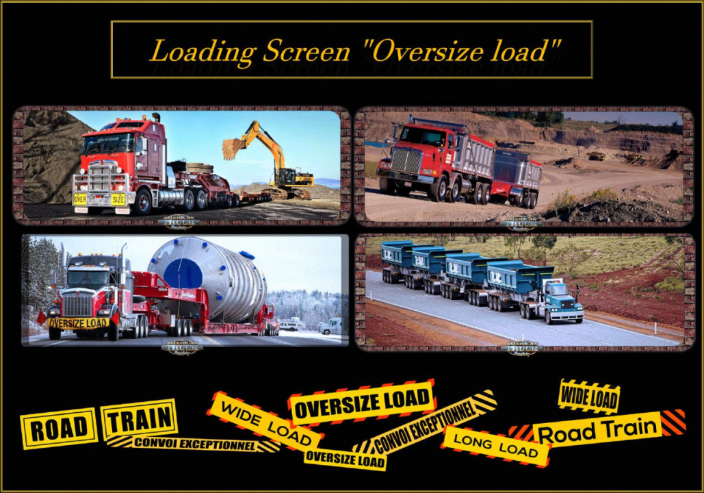 ATS Loading Screen Oversize load