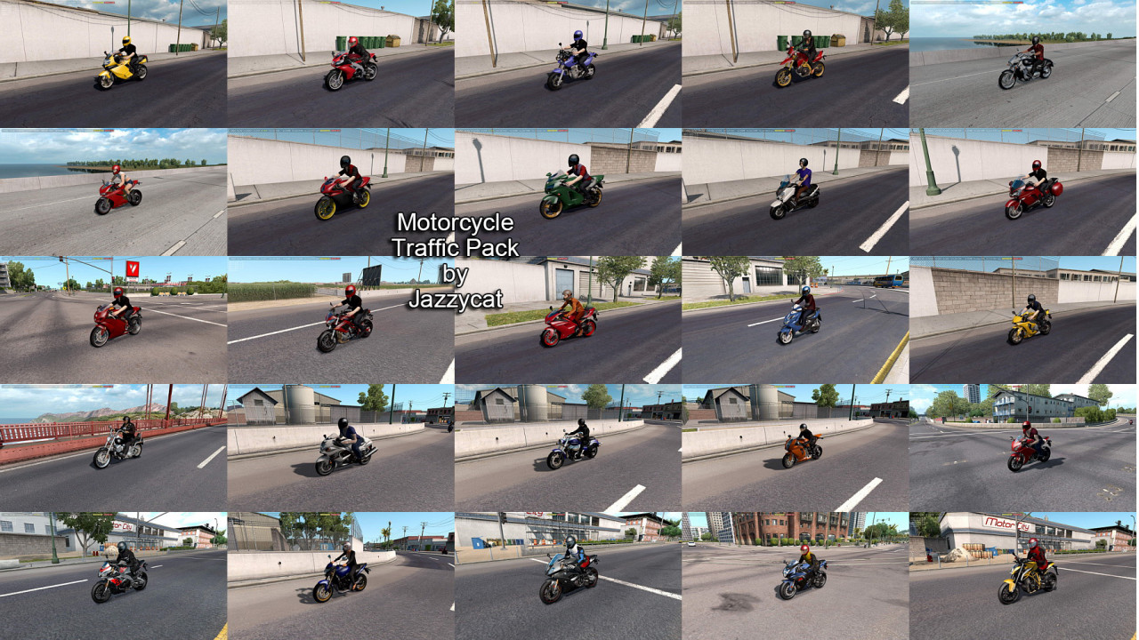 Motorcycle Traffic Pack(ATS) by Jazzycat