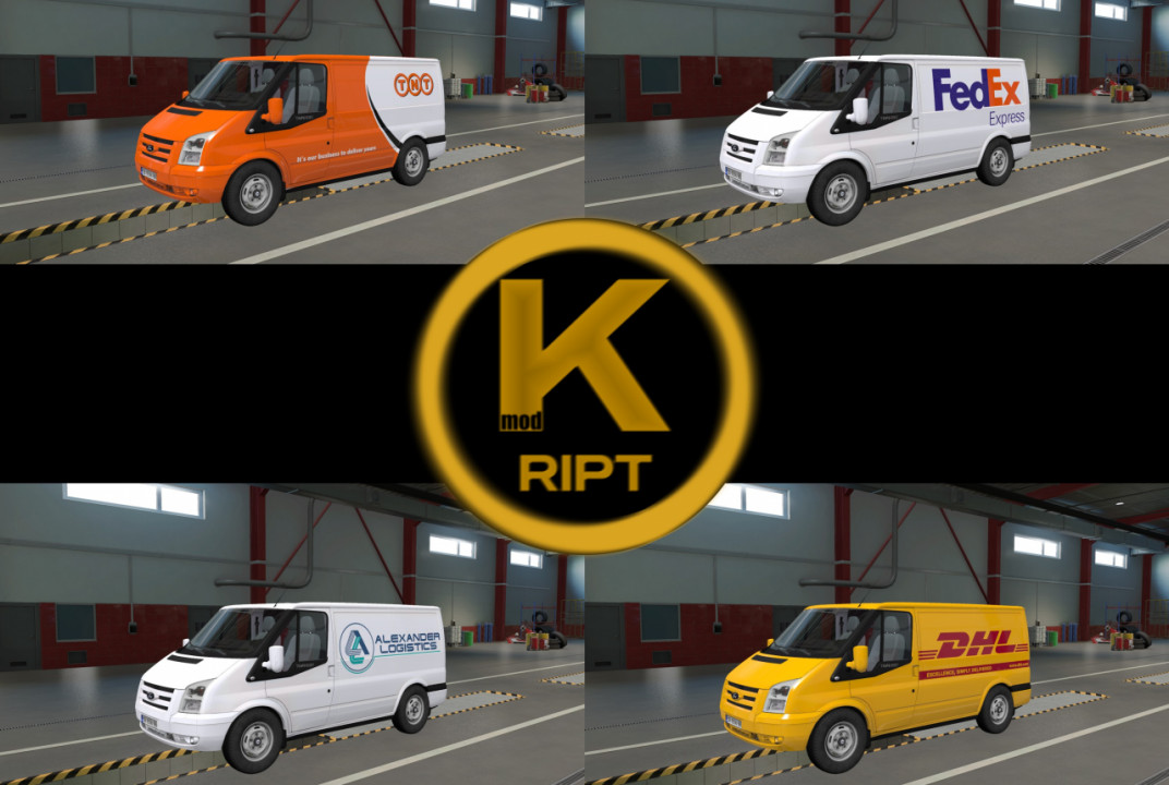 Ford Transit Skin Pack by kRipt v1.0