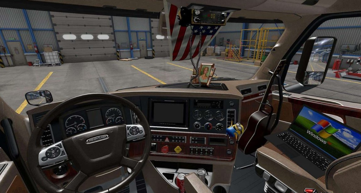 BEIGE INTERIOR FOR FREIGHTLINER CASCADIA 2019 FOR ATS