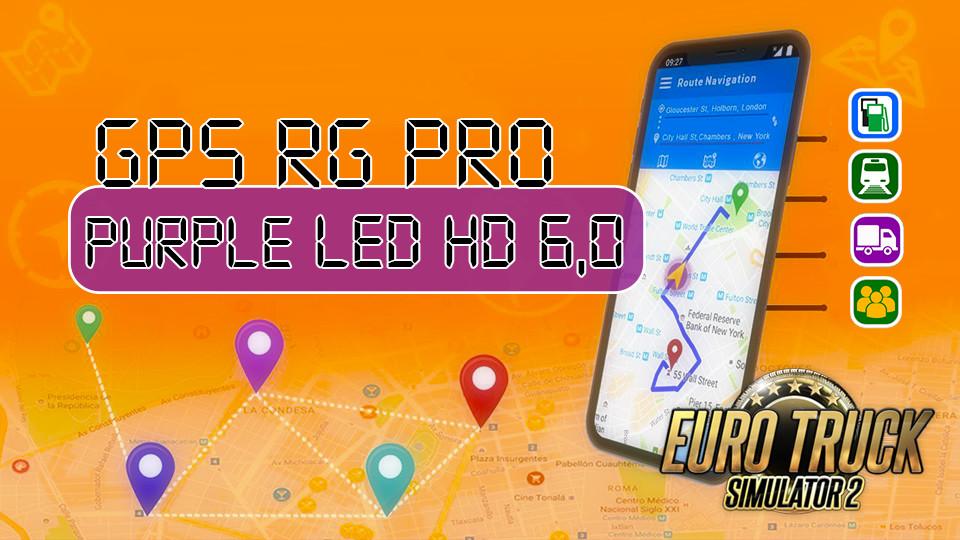 GPS RG PRO PURPLE LED HD 6,0