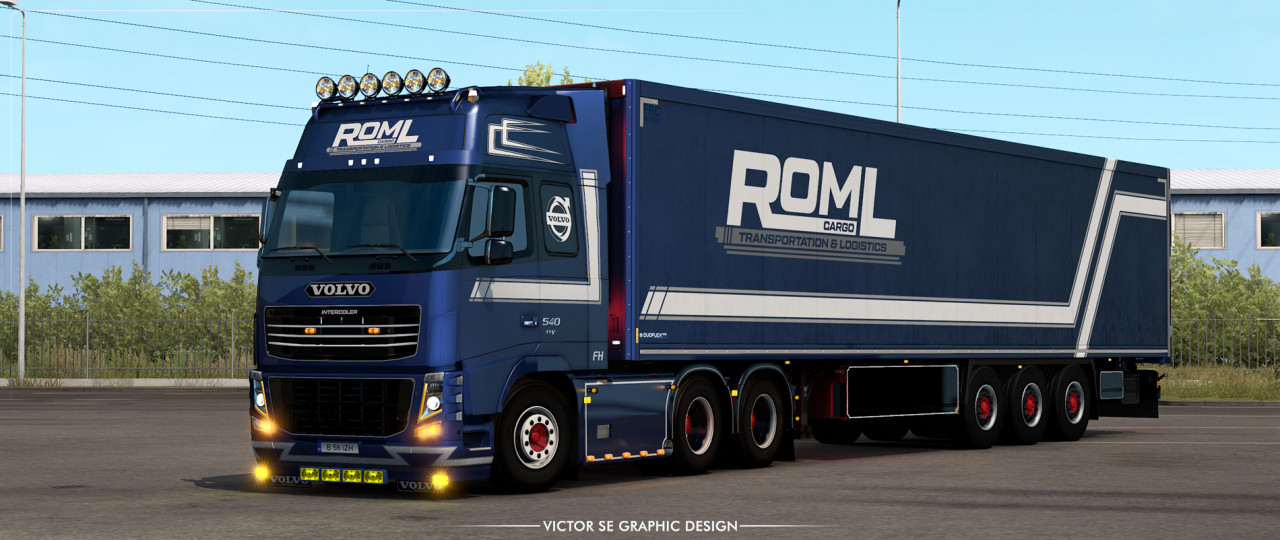ROML Cargo Volvo FH3 and Krone Coolliner Deluxe Edition Skinpack